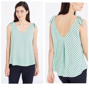 Ann Taylor Tile Green Crepe Size Small Top